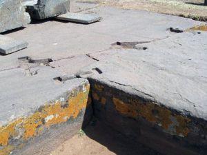 cimientos de roca de puma punku