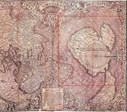 antartida Los Enigmáticos mapas del mundo de Piri Reis