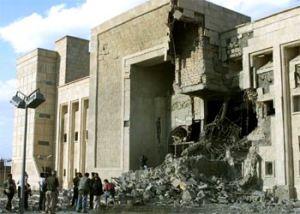 Museo de Bagdad bombardeado