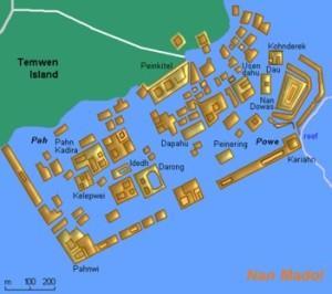 Mapa de las Ruinas de Nan Madol