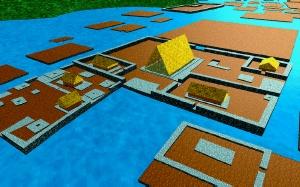 Reproducción virtual de vivienda de Nan Madol
